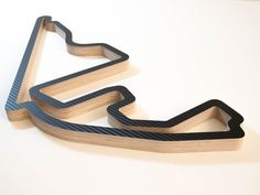Yas Marina Abu Dhabi Wooden F1 Grand Prix Race Track Wall Art Sculpture in a Carbon Finish