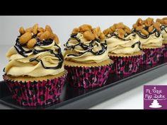 Cupcakes de mantequilla de cacahuete o maní - YouTube
