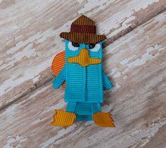 Phineas y Ferb  Perry agente P Pin pelo arco por MySweetPeasCrafts