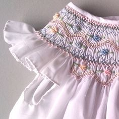 coquito smocked baby dress - snow