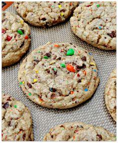 M & M Confetti Cookies