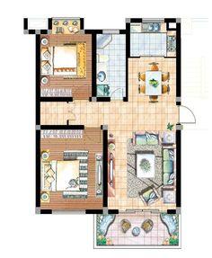Layout Design, Bathroom Design Layout, Interior Design Presentation, Interior Design Sketches, Free Interior Design, Interior Architecture Drawing, Interior Design Renderings, Architecture Concept Drawings, Residential Interior Design