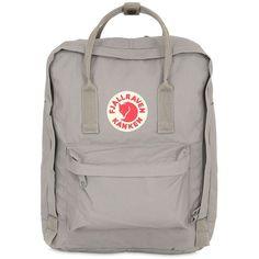 Fjall Raven Women 16l Kanken Nylon Backpack (155 BGN) ❤ liked on Polyvore featuring bags, backpacks, accessories, light grey, fjallraven backpack, nylon backpack, detachable backpack, knapsack bag and zipper bag