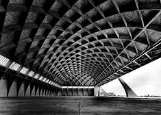 Pier Luigi Nervi - Aircraft hanger, Orvieto1935. Via.