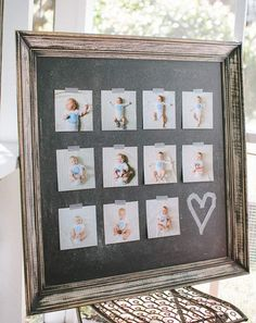 display monthly pictures at birthday party Baby 1st Birthday, First Birthday Parties, First Birthdays, Simple First Birthday, Birthday Ideas, Birthday Gifts, Monthly Pictures, Foto Fun, Party Time