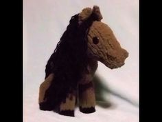 How to loom knit a toy horse (stuffed animal)