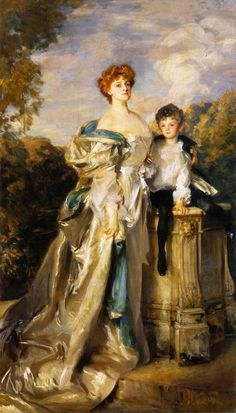 "1904-1905 Frances Evelyn ""Daisy"" Greville, Countess of Warwick and Her Son by John Singer Sargent (Worcester Art Museum, Worcester Massachusetts) 