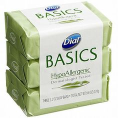Dial Basics HypoAllergenic 3 Bar Soap 3.2oz Each Made in The Usa #Dial #soap #deals