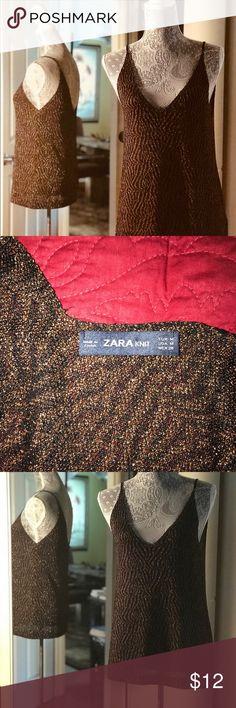 Zara Sparkle Camisole Sexy spaghetti strapped cami Zara Tops Camisoles
