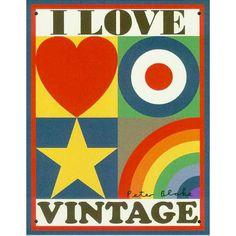 Peter Blake - I Love Vintage