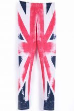 Blue Red Union Jack Flag #Sheinside Print Legging