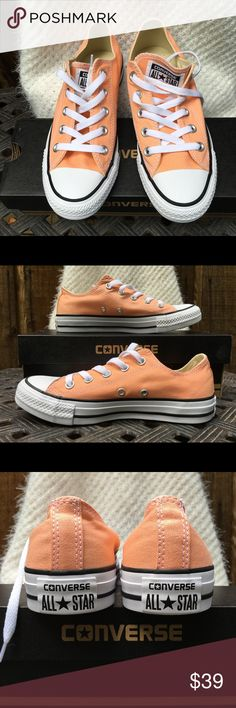 BNIB Chucks Converse Sneakers Chucks Converse Sneakers.  Awesome soft coral color!!  Brand New In The Box!!!!  Size: 6. Converse Shoes Sneakers