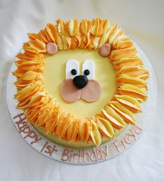 @Katie Horner - Lion Birthday Cake by There for the Baking, via Flickr