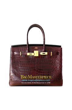 e8de8c78f266 Hermes Birkin Size 35 in Bordeaux featuring GHW in Croc