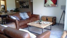 Industrial Mill Style Reclaimed Wood Coffee Table - www.reclaimedbespoke.co.uk