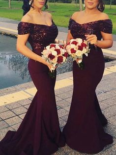 Burgundy Bridesmaid Dress Lng,Mermaid Bridesmaid Dress Off The Shoulder,Sequined Bridesmaid Burgundy Bridesmaid Dresses Long, Mermaid Bridesmaid Dresses, Burgundy Dress, Mermaid Dresses, Wedding Dresses, African Bridesmaid Dresses, Sequin Bridesmaid, Lace Bridesmaids, Wedding Attire