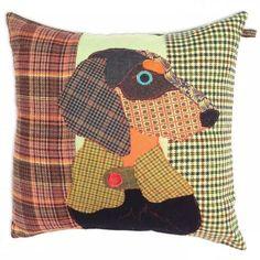 Buy Carola van Dyke Franz the Dachshund Cushion Dachshund Funny, Dachshund Love, Daschund, Dog Cushions, Pillows, Animal Cushions, Modern Upholstery Fabric, Applique, Dog Quilts