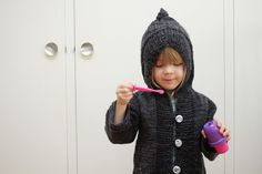 Two cute knit toddler sweaters