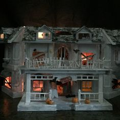 My haunted house made from a plastic dollshouse. Spooky...