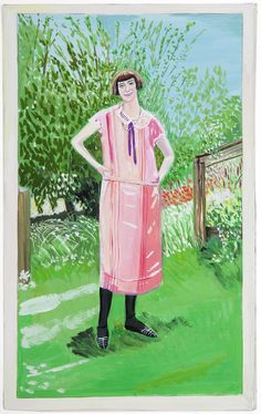 Girl in Pink Dress by Maira Kalman, 2013. Photo courtesy of Julie Saul Gallery.