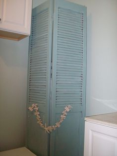 Great way to conceal hot water heater...