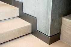 Lokais' studies in metal work at Fusion Works.: Steel baseboards