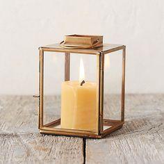 Brass Square Miniature Lantern