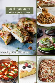 Customizable Ketogenic, Low Carb, and Gluten Free Meal Plans sent right to your email each week! Low-Carb Keto Meal Plan Menu Week 39 | Sugar Free Mom Gluten Free Meal Plan, Gluten Free Recipes For Breakfast, Low Carb Meal Plan, Sugar Free Recipes, Low Carb Keto, Low Carb Recipes, Dinner Recipes, Macro Meals, Macro Recipes