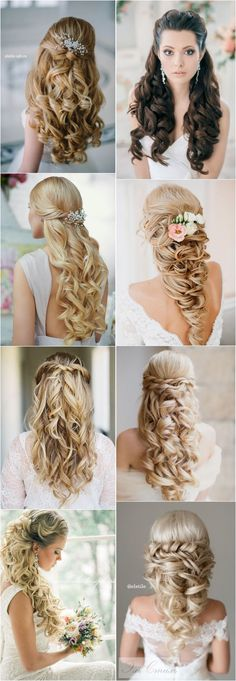 Peinado-stunning-half-up-half-down-wedding-hairstyles-with-tutorial/40 Stunning Half Up Half Down Wedding Hairstyles with Tutorial / http://www.deerpearlflowers.com/15-stunning-half-up-half-down-wedding-hairstyles-with-tutorial/