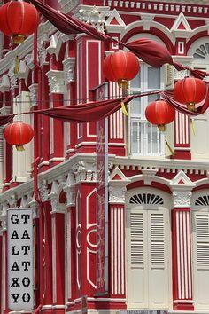 Lanterns in Chinatown, Singapore