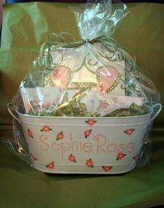 gift basket girl baby shower