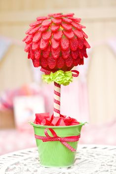 Our Haribo Giant Strawb Sweet Tree is made of juicy giant strawberries. This Sweet Tree is embellished with a hand tied coordinating ribbon and comes beautifully gift wrapped. This sweet tree makes a lovely alternative to flowers for that someone special and is sure to create a WOW. Perfect for birthdays, anniversaries or how about a lovely thank you gift. Perfect for any sweet toothed friend you may have.If you have any special requirements please leave me a little message and I will do my… Sweetie Cones, Haribo Sweets, Giant Strawberry, Candy Trees, Sweet Carts, Sweet Trees, Get Well Soon Gifts, Christmas Candy, Christmas Ideas
