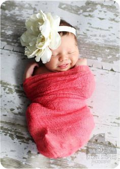Scarlett Red Dyed Cheese Cloth Wrap / baby photos.... again, if its a girl. lol i want a boy but all i find is cute girl stuff all of a sudden o.O
