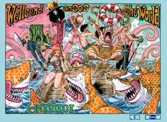 Brook, Chopper, Nami, Luffy, Usopp, Zoro, One Piece
