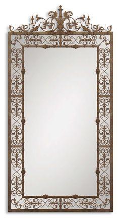 Uttermost Varese Distressed Brown Mirror 12764