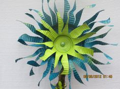 Upcycled Tin can flower by MommaGrammyCrafts on Etsy, $25.00