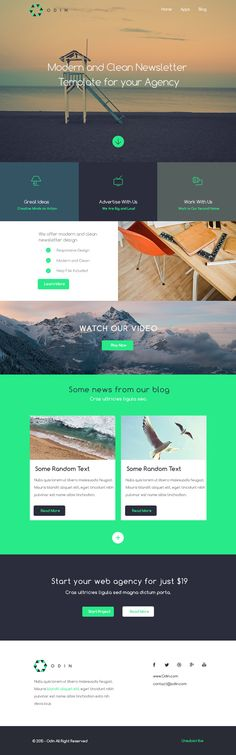 Odin - Free Newsletter PSD Template preview