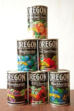 Oregon Berries Canned | Oregon Fruit Products Lemon Buttermilk Cake with Blueberry Compote