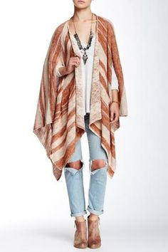 platinum-finds ~ Products ~ FREE PEOPLE Big Trail Poncho Cardigan M ~ Shopify