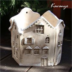 Innovations for Interior Designs with Ceramics Ceramics Projects, Clay Projects, Clay Crafts, Diy And Crafts, Projects To Try, Pottery Houses, Ceramic Houses, Ceramic Clay, Ceramic Pottery