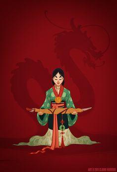 Mulan usa a tradicional veste da China Imperial, anos 450 d.C.