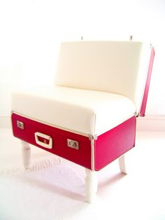 Recycled suitcase chair!
