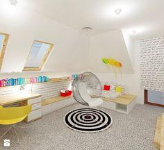 Pokój nastolatki - Duży pokój dziecka dla dziewczynki dla ucznia dla nastolatka, styl nowoczesny - zdjęcie od 4ma projekt