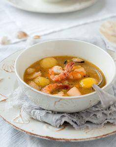 Sancocho de mariscos (seafood stew)