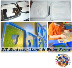 http://makingmontessoriours.blogspot.ca/2011/01/land-water-trays.html?m=1