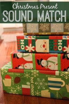 Christmas present sound match - part of a fab Christmas sensory play activities series