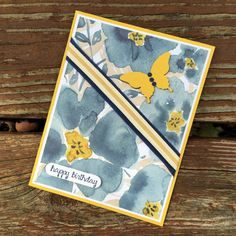 blue English garden HB card a