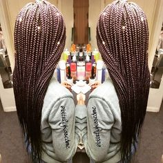 """Violet/Purple braids with Xpression hair """"Violet Braids on one of my faves! ❤ @teamonet_"""""""