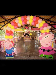 4th Birthday Parties, 2nd Birthday, Princess Peppa Pig Party, Peppa Pig Birthday Decorations, Fiestas Peppa Pig, Peppa Pig Balloons, Aniversario Peppa Pig, Pep Pig, Tiana