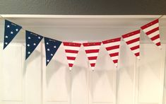 Flag Bunting from recycled cardboard box: Dolen Diaries